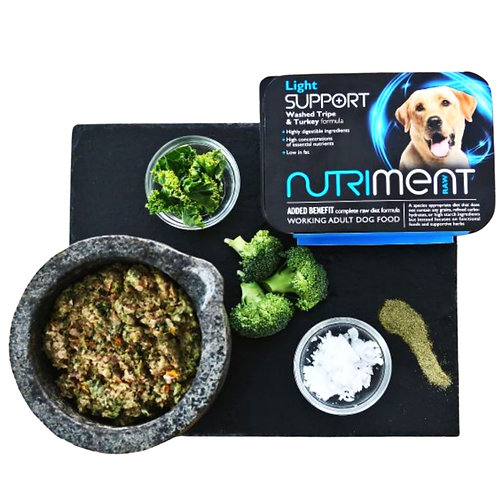 Nutriment light support raw dog food