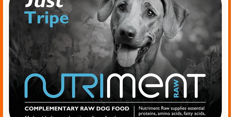 "Nutriment ""Just"" tripe 500g tub raw dog food"