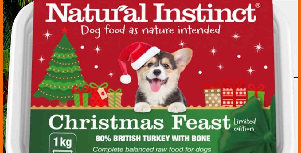Natural Instinct Christmas Feast for Dogs in 1kg Tub Raw Food for Dogs