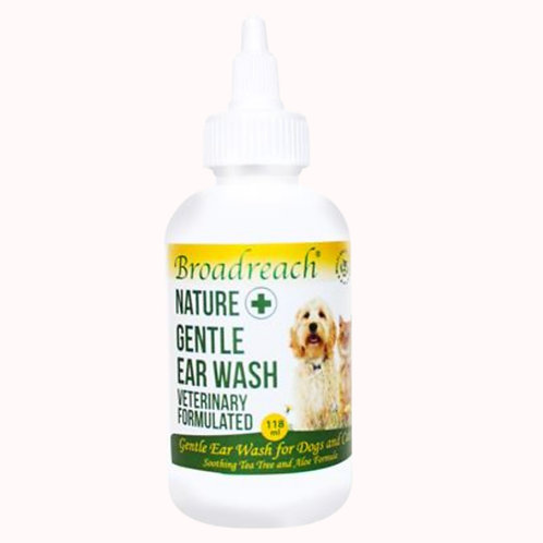 Broadreach Nature Gentle Ear Wash for Dogs and Cats - 118ml