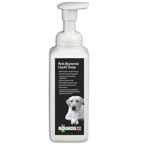 Aqueos liquid hand soap anti viral and bacterial canine