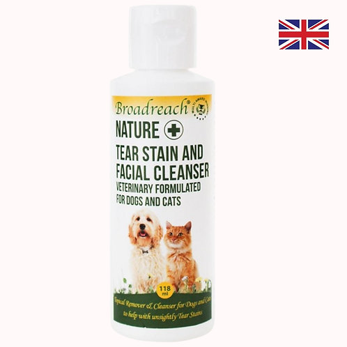 Broadreach Nature+ facial cleanser and tear stain remover for dogs