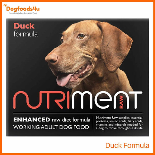 Nutriment Raw formula Duck for dogs in retail packaging tub