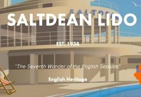 The Big dog swim at Saltdean Lido - Sussex