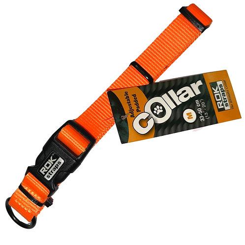 ROK Dog Safety orange dog collar