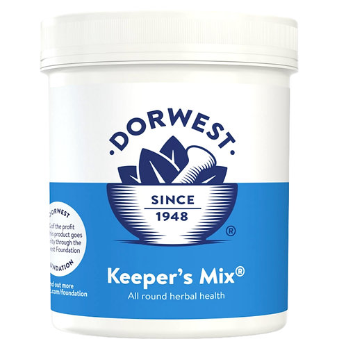 Dorwest Keepers mix herbal supplement for raw fed dogs in large pot