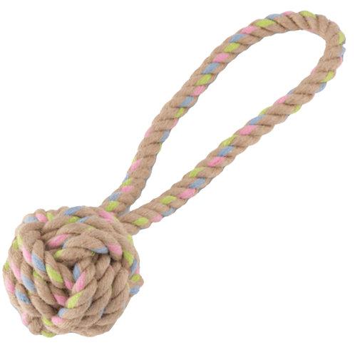 Beco - Hemp rope ball with loop dog toy
