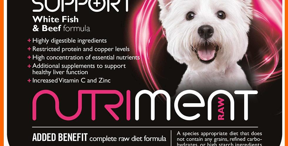 Nutriment Liver Support formula 500g Tub for dogs