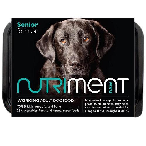 Nutriment raw dog food senior formula 500g tub