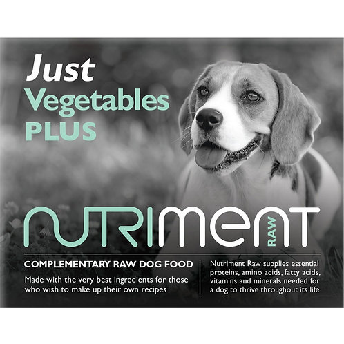 """Nutriment """"Just"""" vegetables for dogs raw"""