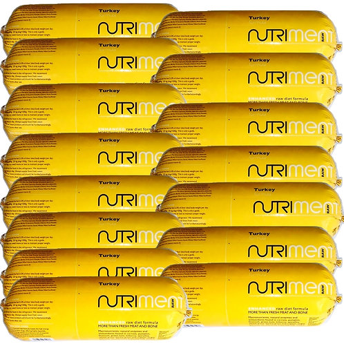 15 Nutriment Raw. complete turkey food formula in 1.4kg chubbs BARF