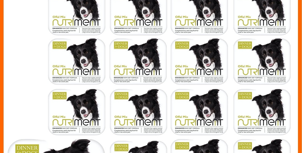 Nutriment Dinner for dogs offal mix multipack 20 200g trays