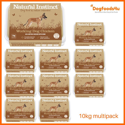 Natural Instinct Working Chicken 10kg multipack 2020 design raw dog food