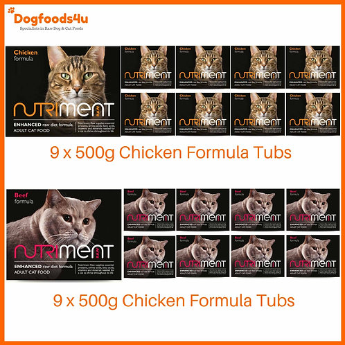 Nutriment Cat Formula 9kg assortment of chicken and beef