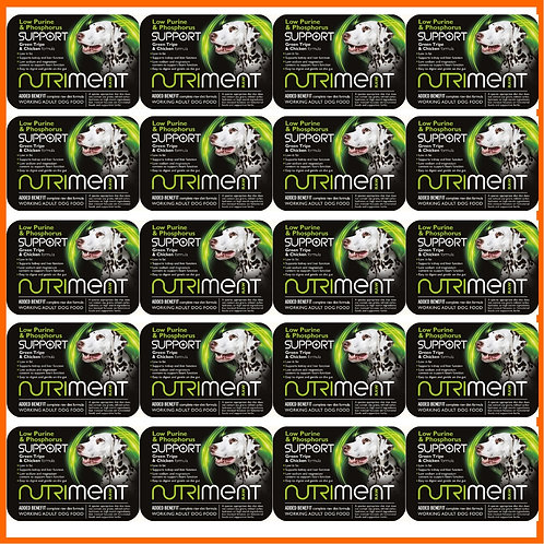 20 Nutriment low purine and phosphorus 500g tubs 10kg total weight for dogs raw food