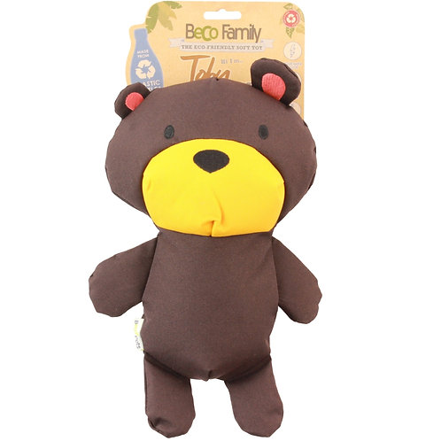 Beco pets recycled brown bear dog pet toy