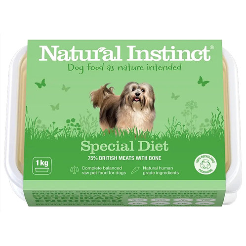 Natural Instinct raw BARF Special Diet 1kg tub design