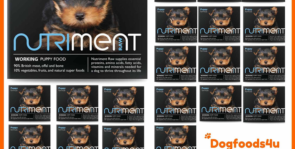 10kg raw Nutriment Puppy dog food Formula in 20 tubs