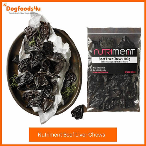 Nutriment beef liver chews 100g for dogs