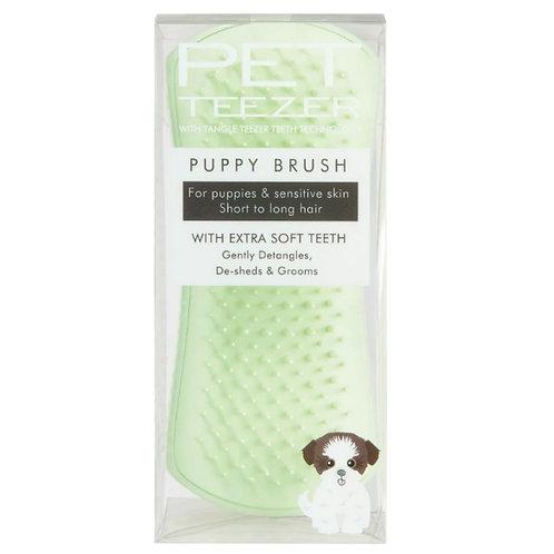 Pet Teezer puppy grooming brush mint in retail packaging