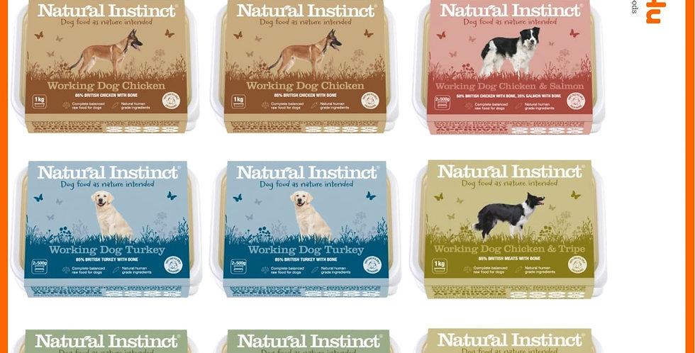 Natural Instinct 12kg rainbow raw dog food selection pet
