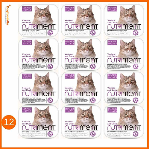 Venison and Duck - Nutriment raw Cat food Multipack x12