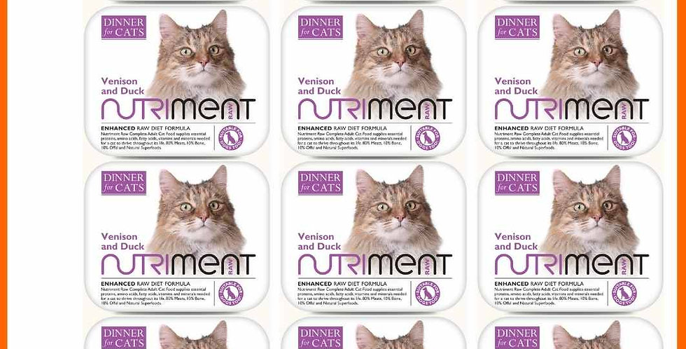 Venison and Duck - Nutriment Cats Multipack x12
