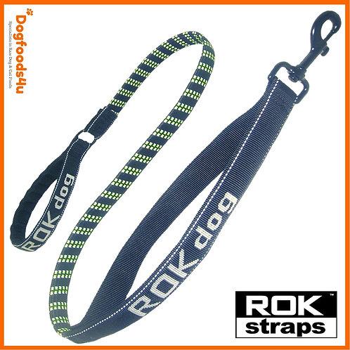 ROK Dog green and black leash