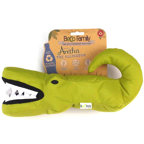 Beco pets crocodile dog toy with retail tag