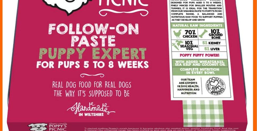 Raw Follow on paste by Poppy's picnic in 450g tray Raw BARF formula