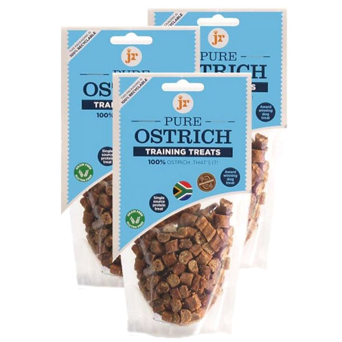 JR Pure ostrich training treats for dogs natural in retail packet