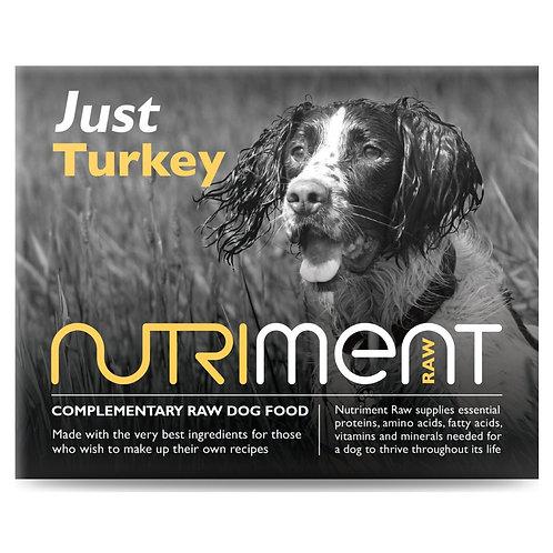 """Nutriment """"Just"""" Turkey in 500g tub raw dog food"""
