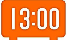 1pm clock