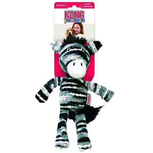 Kong Yarnimal Zebra dog toy