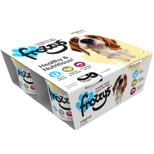 Frozzy's Raw dog yoghurt original flavour retail packet of 4