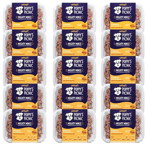 15x Poppy's Picnic Mighty Chicken Mince for dogs - 6.75kg