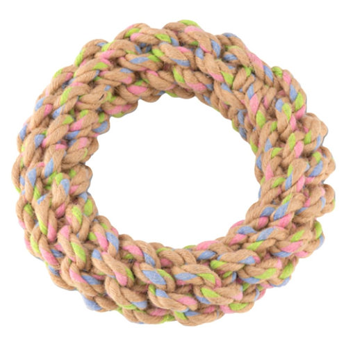 Beco Pets large hemp ring chew dog toy sustainable and knotted