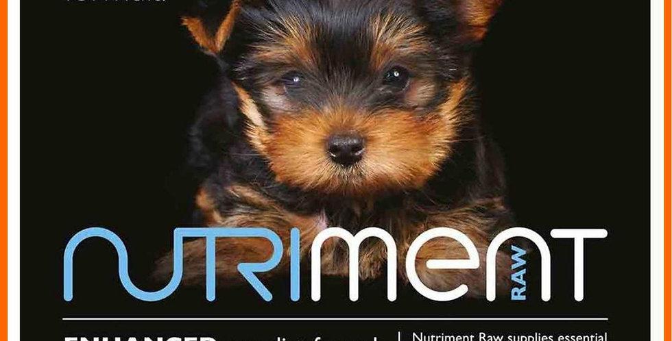 Nutriment raw puppy food BARF feeding 20kg in 500g trays