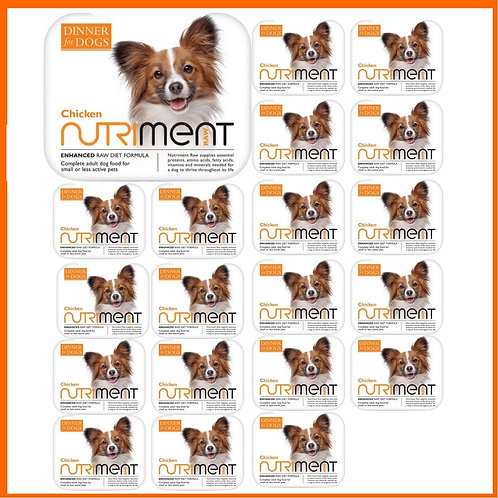 Nutriment Dinner for Dogs 20 small trays raw Chicken formula