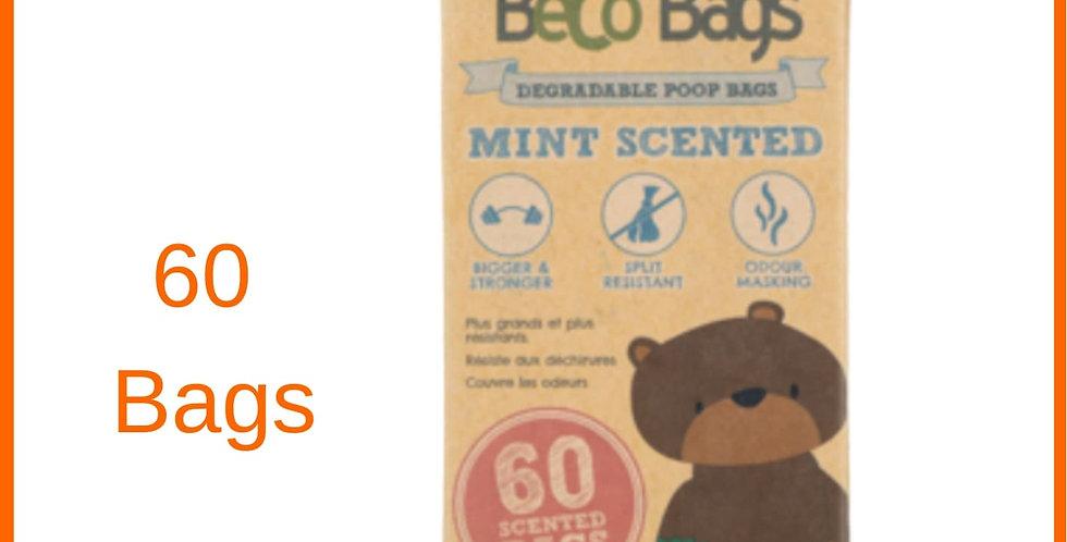 Beco dog poop bags 60 pack in retail packet
