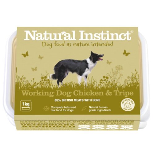 Natural Instinct Chicken and tripe raw dog food formula 2020 design