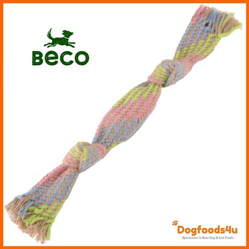 Beco hemp squeaky rope dog toy