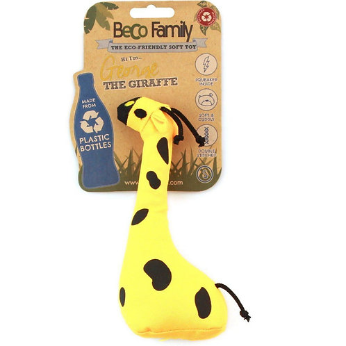 Beco Pets giraffe tough dog toy with retail tag