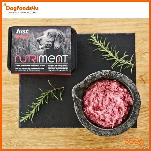 "Nutriment Raw dog food ""Just"" Duck formula DIY or allergy"