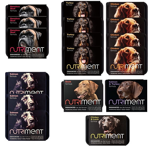 Nutriment raw 8.5kg core mixer box for dogs