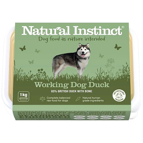 Natural Instinct Working Raw Duck Formula for dogs 1kg tub