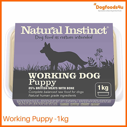 Natural Instinct Working Puppy Dog formula in 1kg tub