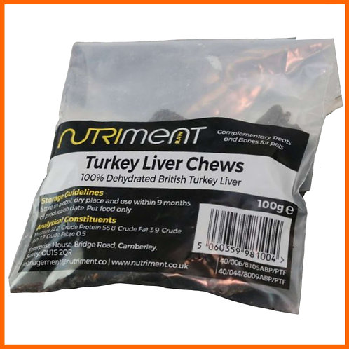 Nutriment Turkey liver chews for dogs - natural healthy treat