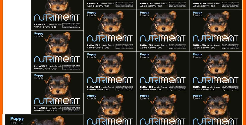 10kg in 20 tubs of Nutriment raw complete puppy formula