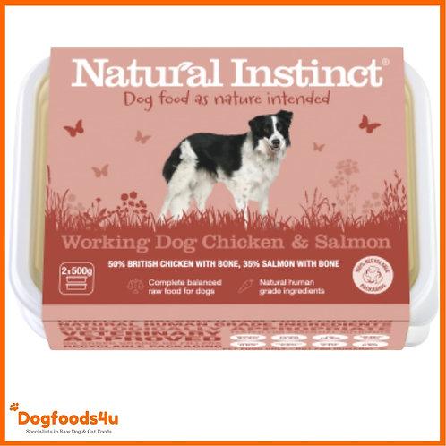 Natural Instinct 1kg Chicken and Salmon 1kg tub frozen raw dog food